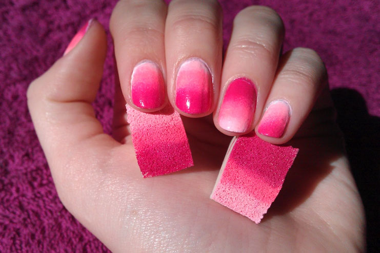Nail Polish Designs With Sponge To Bend Light