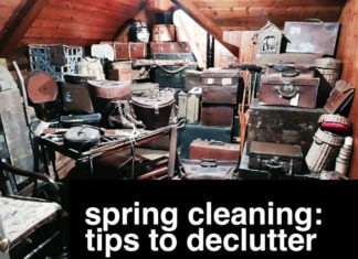 Spring clean and declutter