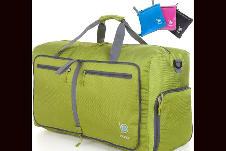 Foldable gym bag or duffle