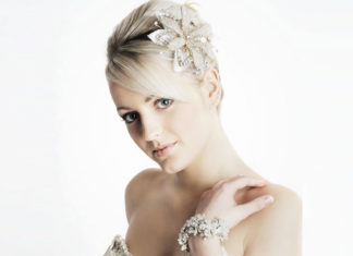 hair accessories for brides with short hair