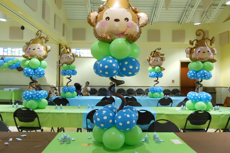 Baby Shower Monkey Decorations Part - 31: 12- Monkey Themed Baby Shower, Curious George To The Rescue: