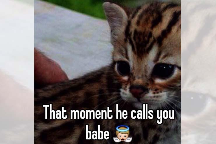 guy calls you babe