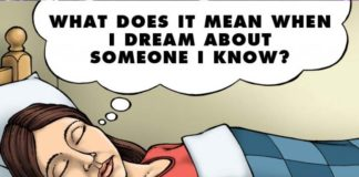 Dreaming someone