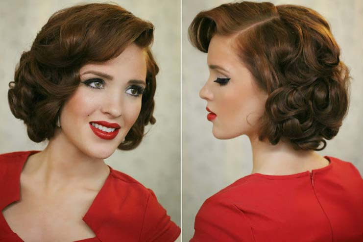 Pin curl perm
