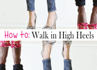 how to walk in high heels