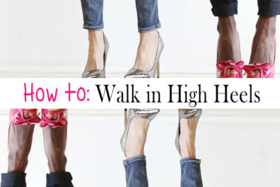 Some Tricks on How to Walk in High Heels