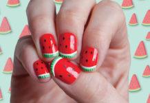 Watermelon nail designs