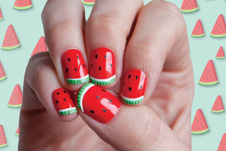 - Some Exciting Watermelon Nail Designs