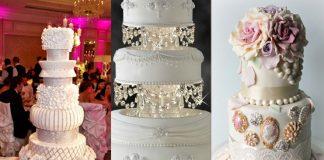 Bejeweled wedding cake