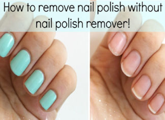 without nail polish remover