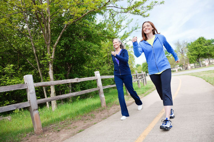 Brisk walk at least 30-45 minutes a day