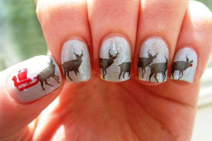 Reindeer inspired Christmas art