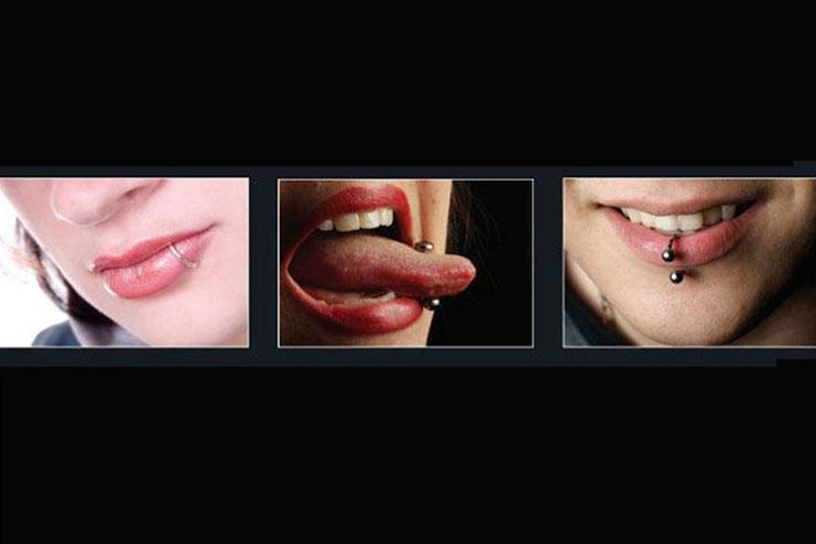 Lip and oral piercings