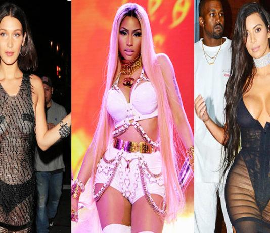 celebrities wearing lingerie
