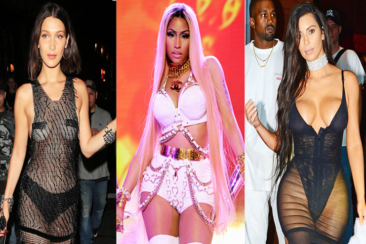 b0faeddf24 Celebrities wearing lingerie instead of clothes and creating a buzz