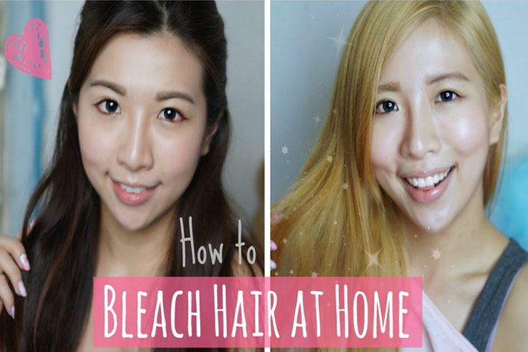 bleach your hair at home naturally