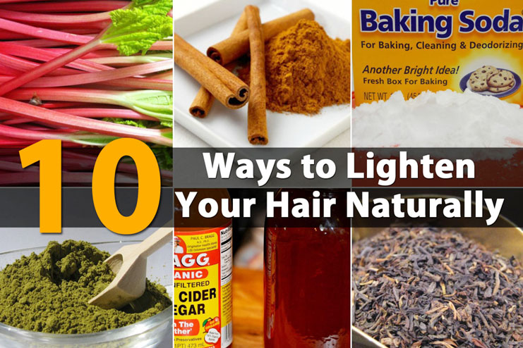 naturally bleach hair at home safely include