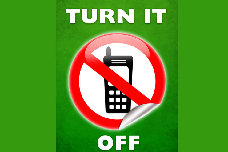 Turn your cell phone and devices