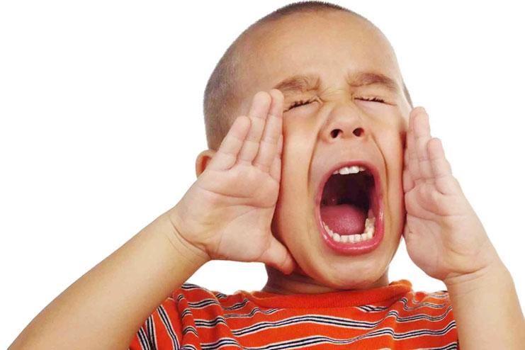 Kids shouting more than talking