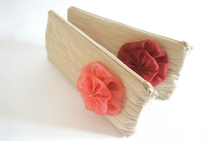 Beach bride clutch purse