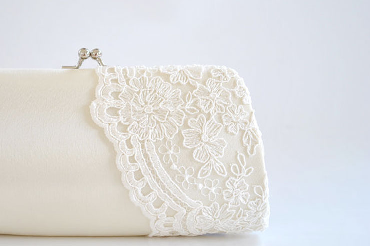 Bridal clutch ivory and more