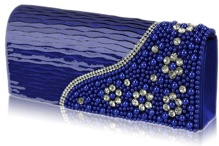 A blue bridal clutch