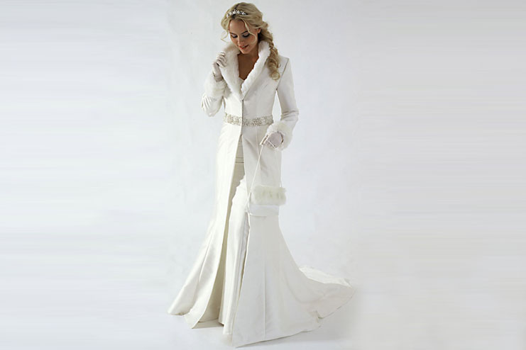 For long sleeved wedding gown-bridal gloves