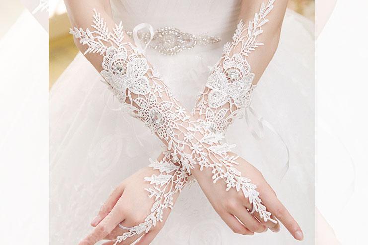 Fingerless wedding gloves-bridal gloves