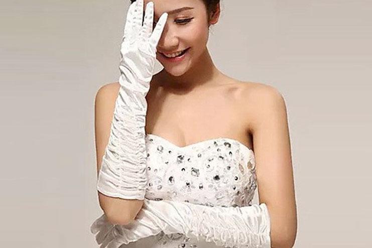 Elbow length wedding gloves-bridal gloves
