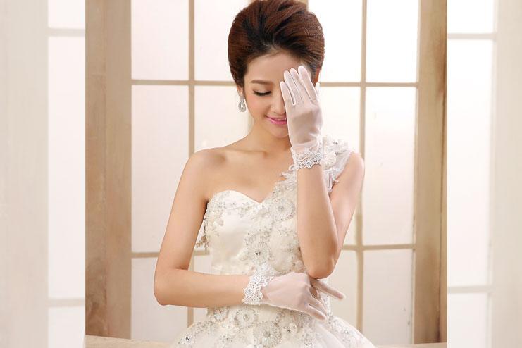 Wrist wedding gloves-bridal gloves