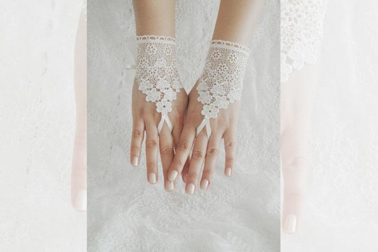 1 button wedding glove-bridal gloves