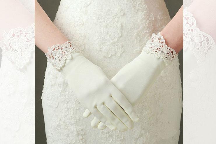 4 button bridal gloves-bridal gloves