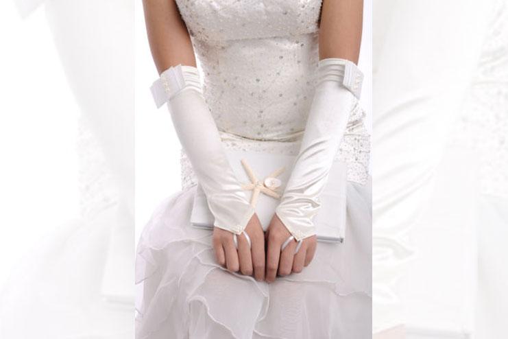 12 button bridal glove-bridal gloves