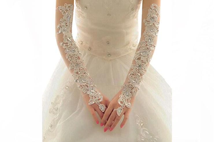 21 button bridal glove-bridal gloves