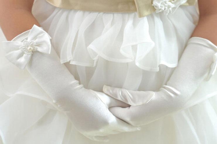 Elastic satin wedding gloves-bridal gloves
