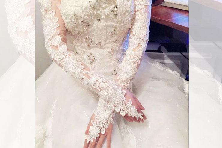 Lace wedding gloves-bridal gloves