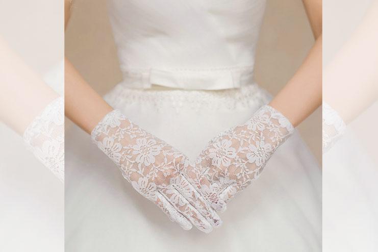 Voile wedding glove-bridal gloves