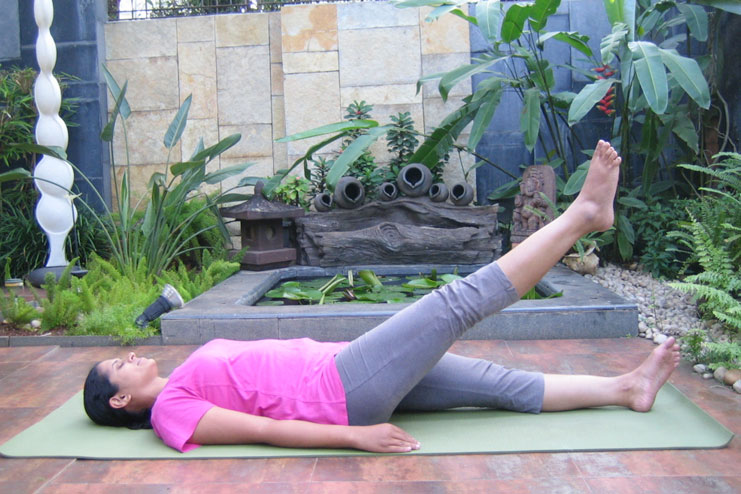 Leg Lift or the Uttanpadasana