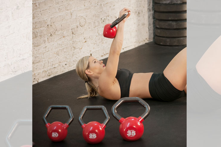 Body Solid iron kettlebells