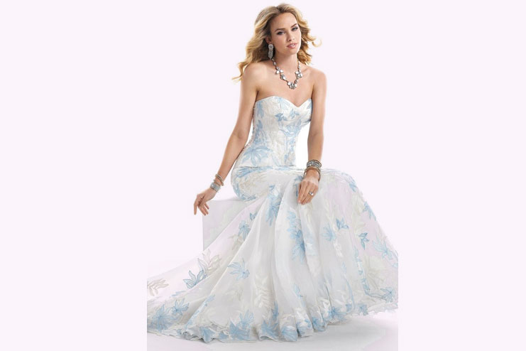 Something blue in your wedding dress