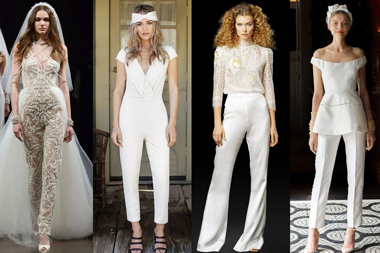 Bridal jumpsuits and pants for the wedding