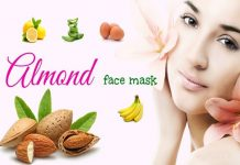 Homemade Almond face packs