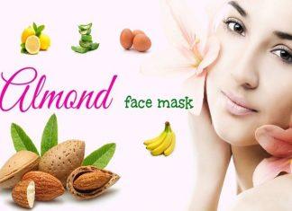 Homemade Almond face packs