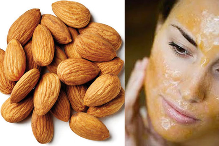 homemade almond face pack