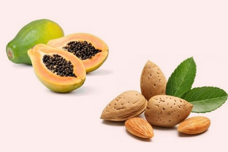 Papaya and almond face pack for oily skin treatment