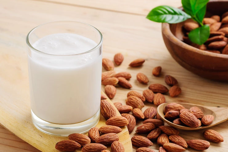 Milk based almond face pack for for skin