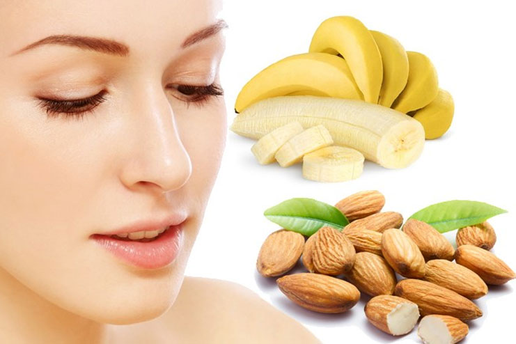 Banana almond face pack for deep hydration and radiance