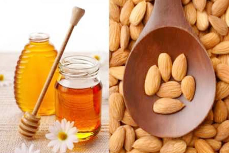 Honey natural almond face pack for skin moisturisation and cleansing