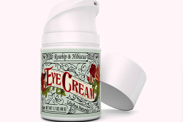 Rose hip and hibiscus eye cream moisturizer