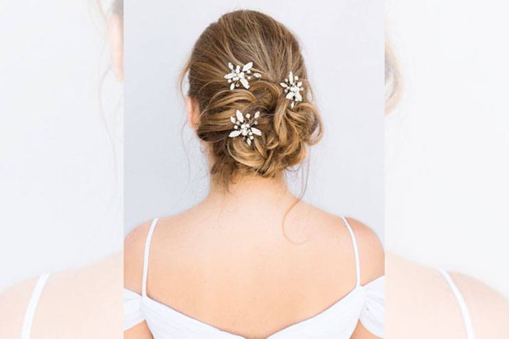 Starburst bridal hair pins